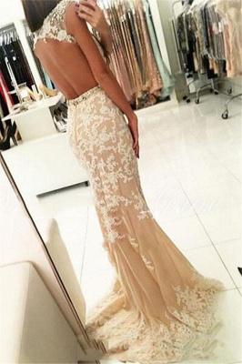 Fashion Appliques Round Neck Cap Sleeves Sexy Trumpet/Mermaid Online Prom Dress Sale   Suzhoudress UK_2