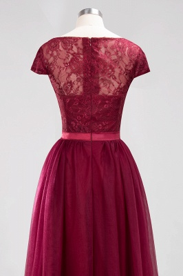 A-Line Chiffon Jewel Teenage Floor-Length Bridesmaid Dresses with Ruffles | Suzhoudress UK_6