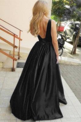Gorgeous Straps Teenage Womens Plunge V-Neck A-Line Online Prom Dress Sale | Suzhoudress UK_2