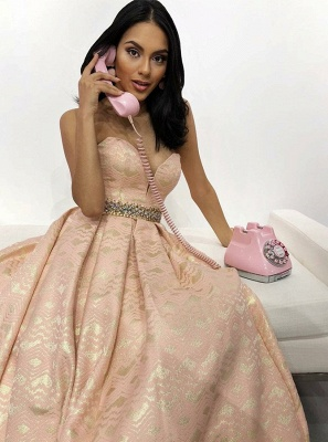Elegant A-Line Sweetheart Beading Teenage Floor-Length Online Prom Dress Sale | Suzhoudress UK_2