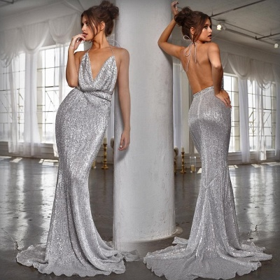 Womens V-Neck Halter Backless Teenage Sexy Trumpet/Mermaid Online Prom Dress Sale | Suzhoudress UK_6