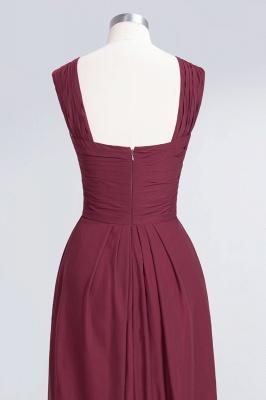 A-line Chiffon V-Neck Straps Summer Floor-Length Bridesmaid Dress UK with Ruffles_6