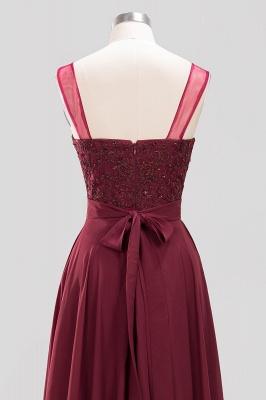A-Line Chiffon Tulle Lace Beadings Jewel Teenage Floor-Length Bridesmaid Dresses with Sash   Suzhoudress UK_5