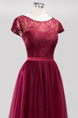 A-Line Chiffon Jewel Teenage Floor-Length Bridesmaid Dresses with Ruffles | Suzhoudress UK_5
