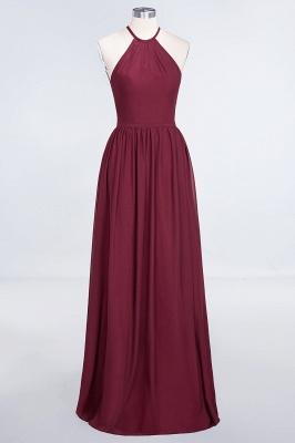 A-line Chiffon Halter Summer Floor-Length Bridesmaid Dress UK with Ruffles_1
