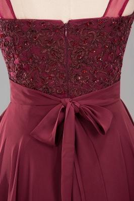 A-Line Chiffon Tulle Lace Beadings Jewel Teenage Floor-Length Bridesmaid Dresses with Sash   Suzhoudress UK_6
