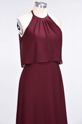 A-line Chiffon Jewel Summer Floor-Length Bridesmaid Dress UK_6