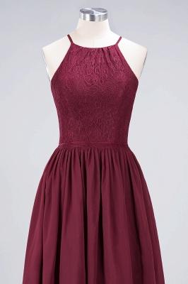 A-line Chiffon Lace Jewel Teenage Knee-Length Bridesmaid Dresses with Ruffles | Suzhoudress UK_4