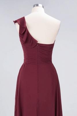 A-line Chiffon One-Shoulder Sweetheart Summer Floor-Length Bridesmaid Dress UK with Ruffles_6