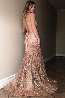 Teenage Thin Straps Floor-Length Sexy Trumpet/Mermaid Online Prom Dress Sale | Suzhoudress UK_2