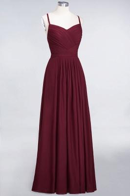 A-line Chiffon Spaghetti-Straps Sweetheart Summer Floor-Length Bridesmaid Dress UK with Ruffles_3