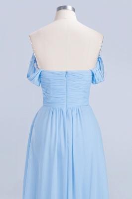 A-line Chiffon Straps Sweetheart Summer Floor-Length Bridesmaid Dress UK with Ruffles_6