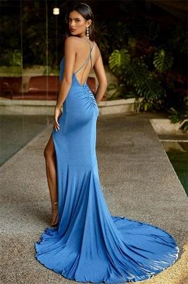 Fashion Thin Straps Teenage Front Slipt Best Fit Column Online Prom Dress Sale | Suzhoudress UK_2