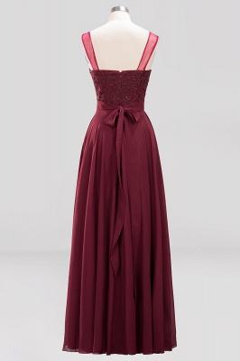 A-Line Chiffon Tulle Lace Beadings Jewel Teenage Floor-Length Bridesmaid Dresses with Sash   Suzhoudress UK_2