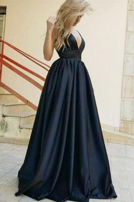 Gorgeous Straps Teenage Womens Plunge V-Neck A-Line Online Prom Dress Sale | Suzhoudress UK_1