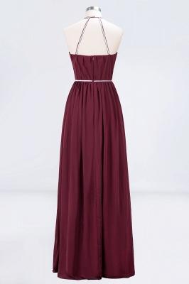 A-line Chiffon Halter Summer Floor-Length Bridesmaid Dress UK with Beading Sash_2