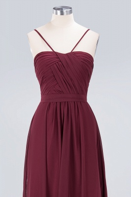 A-line Chiffon Sweetheart Spaghetti-Straps Backless Floor-Length Bridesmaid Dress UK with Ruffles_4