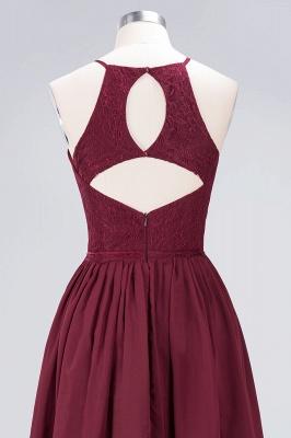 A-line Chiffon Lace Jewel Teenage Knee-Length Bridesmaid Dresses with Ruffles | Suzhoudress UK_5