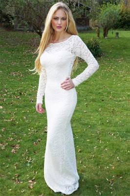 Gorgeous Round Neck Long Sleeves Appliques Floor-Length Online Prom Dress Sale   Suzhoudress UK_1