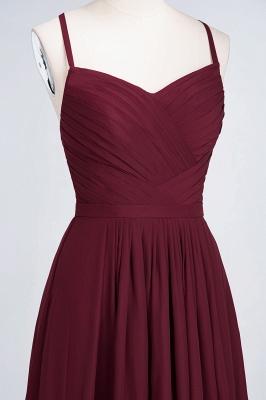 A-line Chiffon Spaghetti-Straps Sweetheart Summer Floor-Length Bridesmaid Dress UK with Ruffles_4