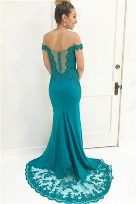 Charming Off-the-Shoulder Appliques Teenage Beading Floor-Length Online Prom Dress Sale | Suzhoudress UK_2