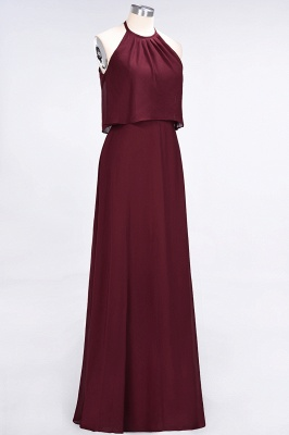 A-line Chiffon Jewel Summer Floor-Length Bridesmaid Dress UK_4