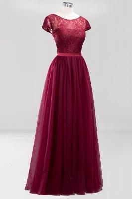 A-Line Chiffon Jewel Teenage Floor-Length Bridesmaid Dresses with Ruffles | Suzhoudress UK_3