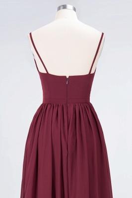 A-line Chiffon Appliques Spaghetti-Straps Deep-V-Neck Summer Floor-Length Bridesmaid Dress UK with Ruffles_6