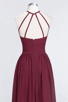 A-line Chiffon Halter Summer Floor-Length Bridesmaid Dress UK with Ruffles_6