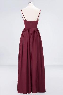 A-line Chiffon Appliques Spaghetti-Straps Deep-V-Neck Summer Floor-Length Bridesmaid Dress UK with Ruffles_2