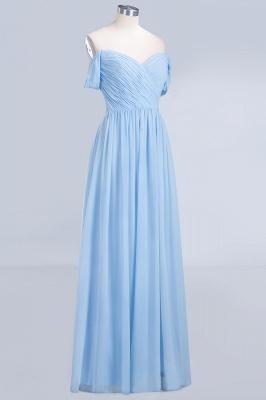 A-line Chiffon Straps Sweetheart Summer Floor-Length Bridesmaid Dress UK with Ruffles_3