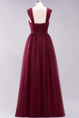 A-Line Chiffon Sweetheart Straps Sleeves Floor-Length Bridesmaid Dresses with Ruffles | Suzhoudress UK_4
