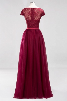 A-Line Chiffon Jewel Teenage Floor-Length Bridesmaid Dresses with Ruffles | Suzhoudress UK_2