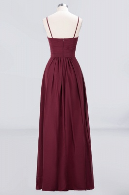 A-line Chiffon Sweetheart Spaghetti-Straps Backless Floor-Length Bridesmaid Dress UK with Ruffles_2