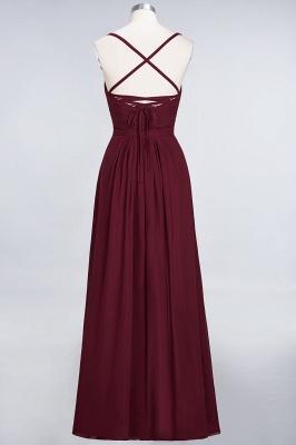 A-line Chiffon Spaghetti-Straps Sweetheart Summer Floor-Length Bridesmaid Dress UK with Ruffles_2