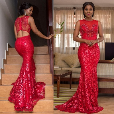 Appliques Jewel Summer Mermaid Fit and Flare Prom Dress UK_3