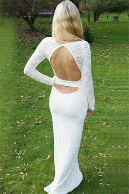 Gorgeous Round Neck Long Sleeves Appliques Floor-Length Online Prom Dress Sale   Suzhoudress UK_2