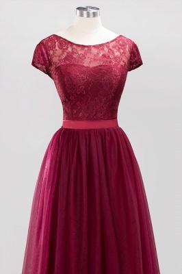 A-Line Chiffon Jewel Teenage Floor-Length Bridesmaid Dresses with Ruffles | Suzhoudress UK_4