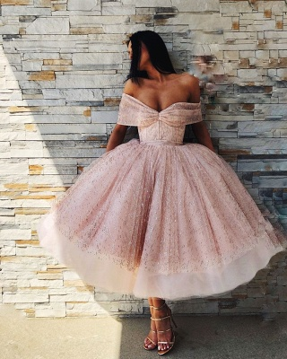 New Arrival Off-the-Shoulder Prom Dress Puffy Tulle Evening Gowns Online_4