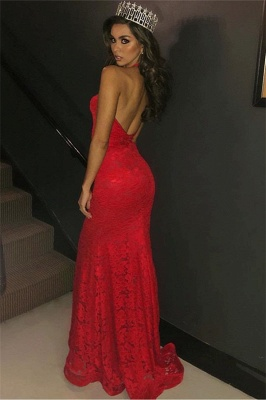 Charming Halter Summer Mermaid Fit and Flare Deep V-Neck Appliques Prom Dress UKes UK_3