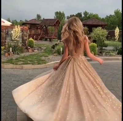 Fashion Sleeveless Shining Sequins Fitted Crew Floor-Length Exclusive Prom Dresses UK | New Styles_3
