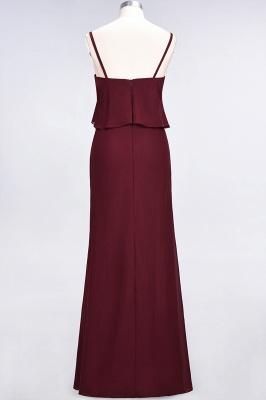 Modest Spaghetti-Straps V-Neck Mermaid Bridesmaid Dress Sleeveless Long_3