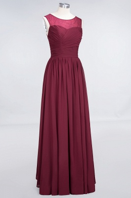 Elegant Chiffon Tulle Long Bridesmaid Dress With Ruffles Sleeveless_3