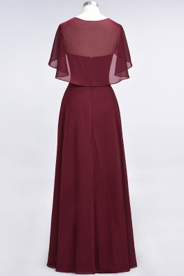 Charming V-Neck Short Sleeves Long Bridesmaid Dress On Sale_3
