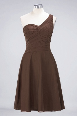 A-line Chiffon One-Shoulder Sweetheart Summer Knee-Length Bridesmaid Dress UK with Ruffles_12