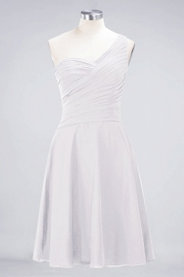 A-line Chiffon One-Shoulder Sweetheart Summer Knee-Length Bridesmaid Dress UK with Ruffles_1