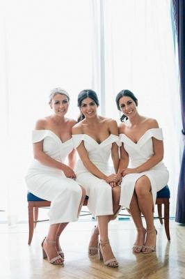 Off The Shoulder Flirty Long Bridesmaid Dresses With Split_1