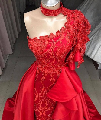 Beautiful One Shoulder Halter Appliques Shining Sequins Fitted Floor-Length Exclusive Prom Dresses UK | New Styles_2