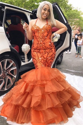 New Arrival Spaghetti Straps Sleeveless Appliques Rhinestones Mermaid Exclusive Prom Dresses UK | New Styles_2