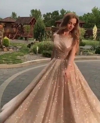 Fashion Sleeveless Shining Sequins Fitted Crew Floor-Length Exclusive Prom Dresses UK | New Styles_4